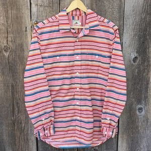 Surf Pendleton Striped Long Sleeve Button Down, S